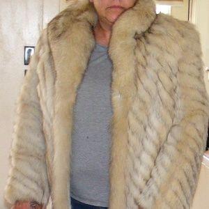 Blu Fox Full Length Fur Coat